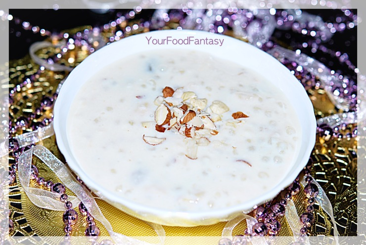 sabudana kheer recipe at your food fantasy by meenu gupta