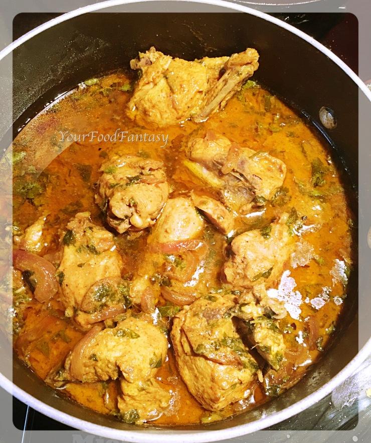 cooked chicken for chicken biryani recipe at yourfoodfantasy.com by meenu gupta