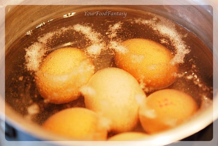 Boiling eggs for Avocado Eggs Recipe at your food fantasy  Yourfoodfantasy.com