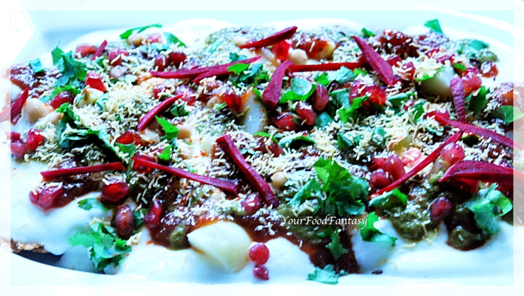 Papdi chaat recipe at yourfoodfantasy.com by meenu gupta