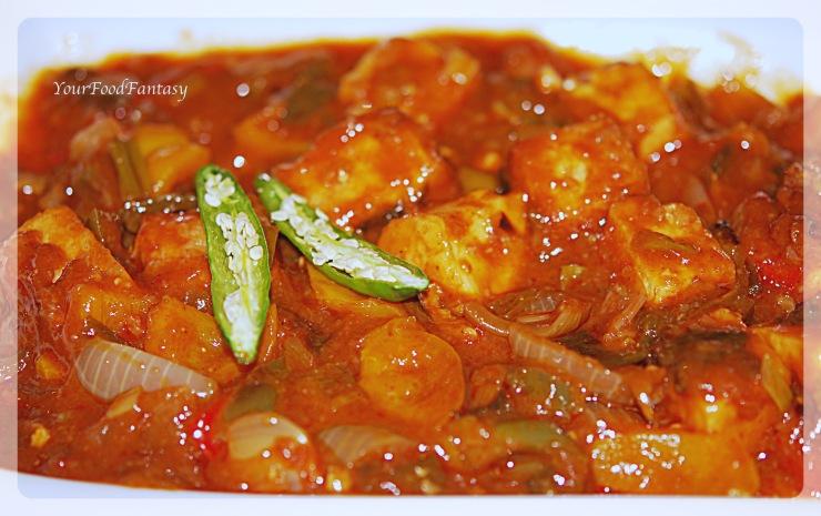 Chilli-paneer recipe at yourfoodfantasy.com by meenu gupta