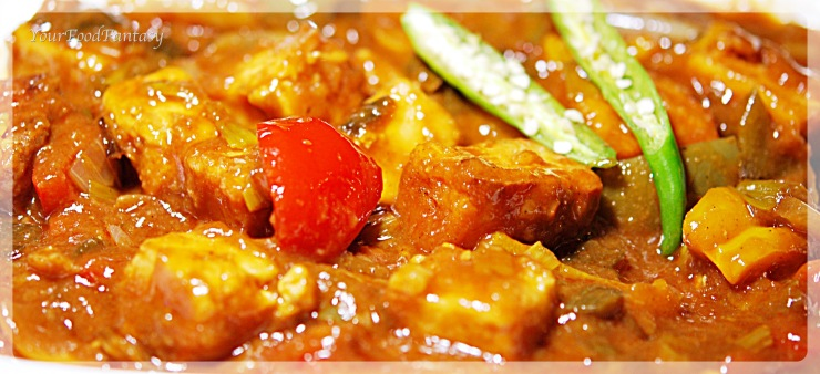 Chilli paneer recipe | yourfoodfantasy.com | meenu gupta