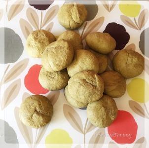 Dough balls ready for palak poori | YourFoodFantasy.com by Meenu Gupta