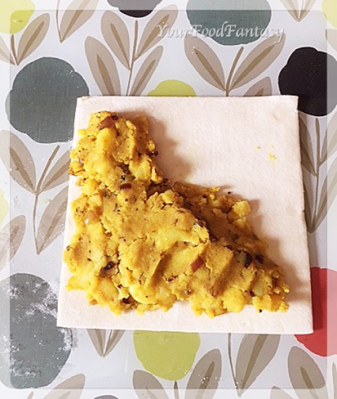 Making of potato puffed patties | yourfoodfantasy.com by meenu gupta