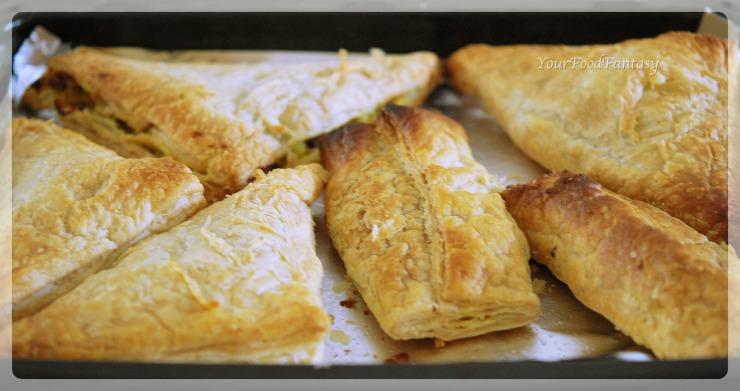 Puffed patties in oven | yourfoodfantasy.com by meenu gupta