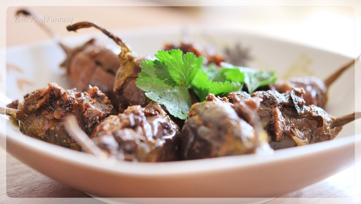 stuffed aubergine recipe at yourfoodfantasy.com by meenu gupta