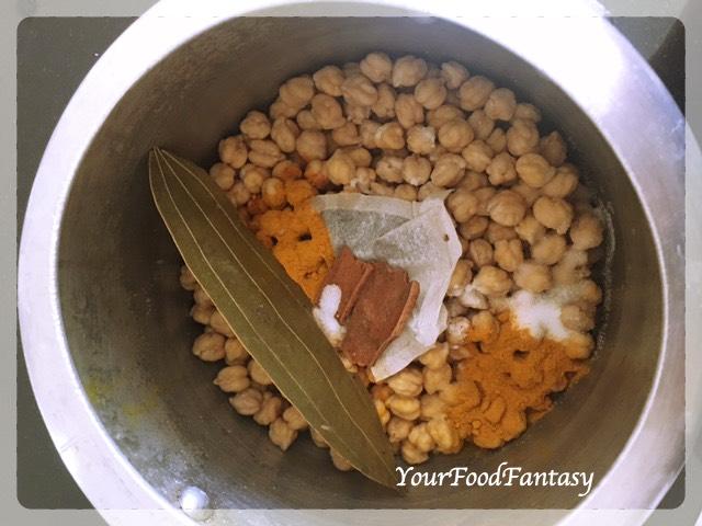 Boiling chana for chole - Chole Recipe
