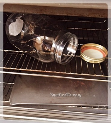 Heating Jar in Oven