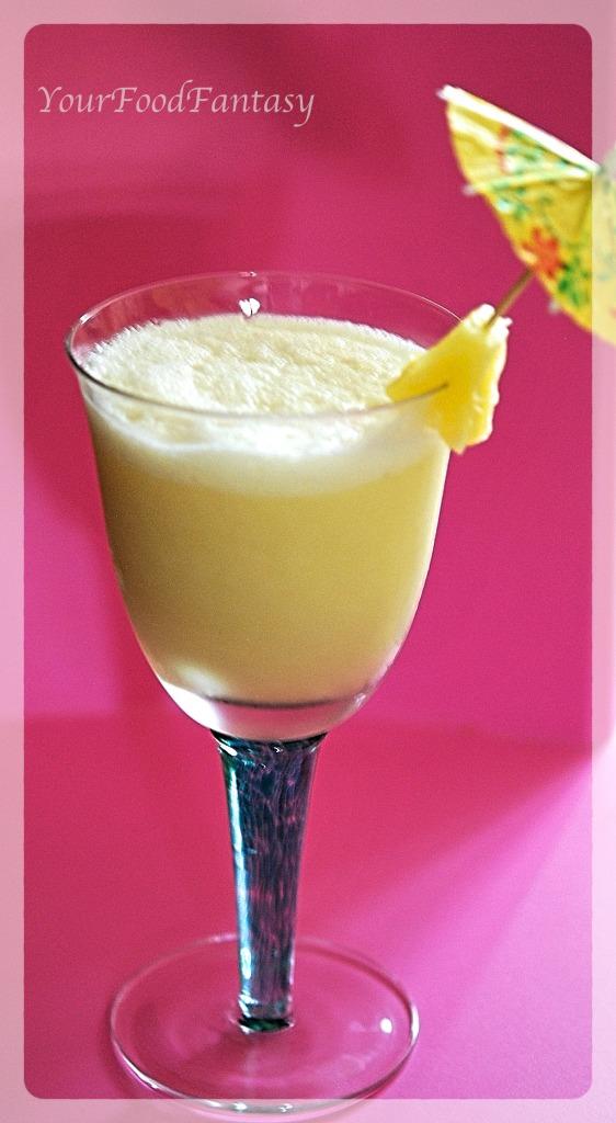 Mocktail - Pina Colada - YourFoodFantasy