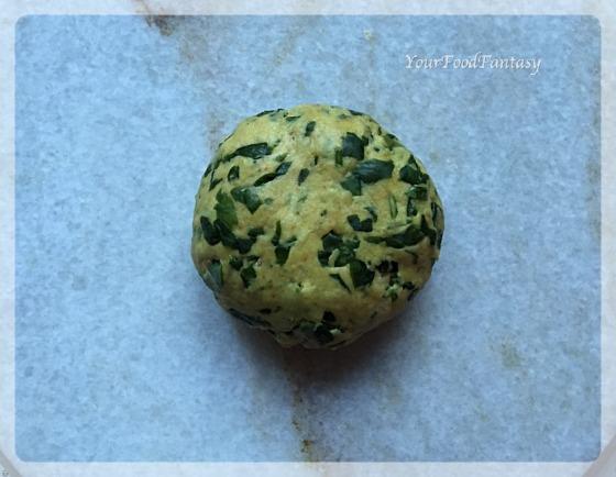 Methi Paratha Dough Ball   YourFoodFantasy.com