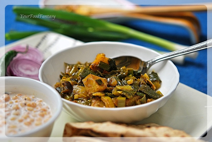 Spring Onion Curry Recipe | Your Food Fantasy by Meenu Gupta