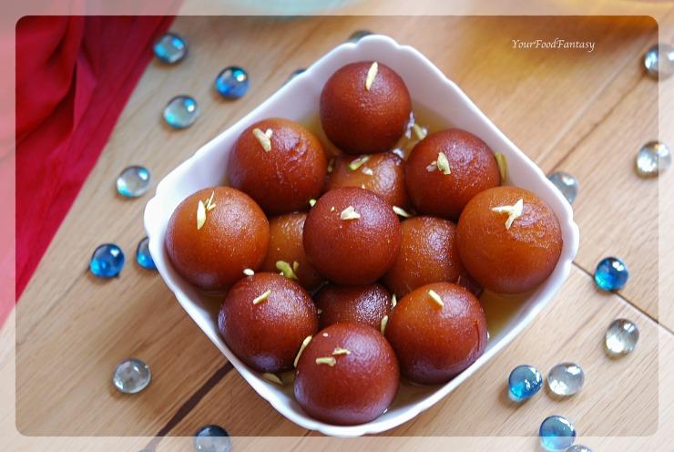 Easy Gulab Jamun Recipe | YourFoodFantasy.com by Meenu Gupta