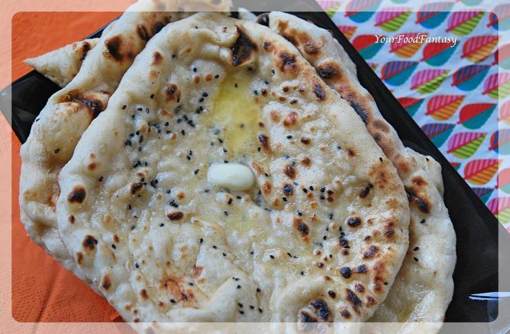 Homemade Butter Naan Recipe | YourFoodFantasy.com by Meenu Gupta