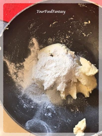 Mixing Paneer and Mawa   Kala Jamun Recipe