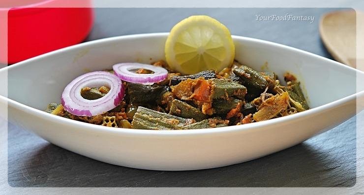 Bhindi Do Pyaza   Okra Recipe   YourFoodFantasy.com